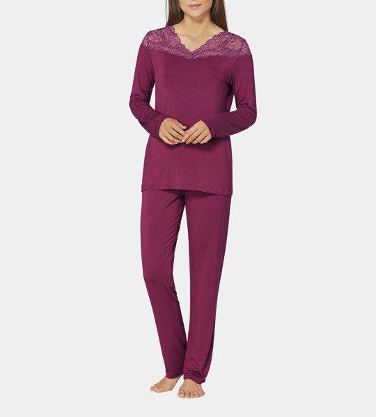 Bordowa piżama